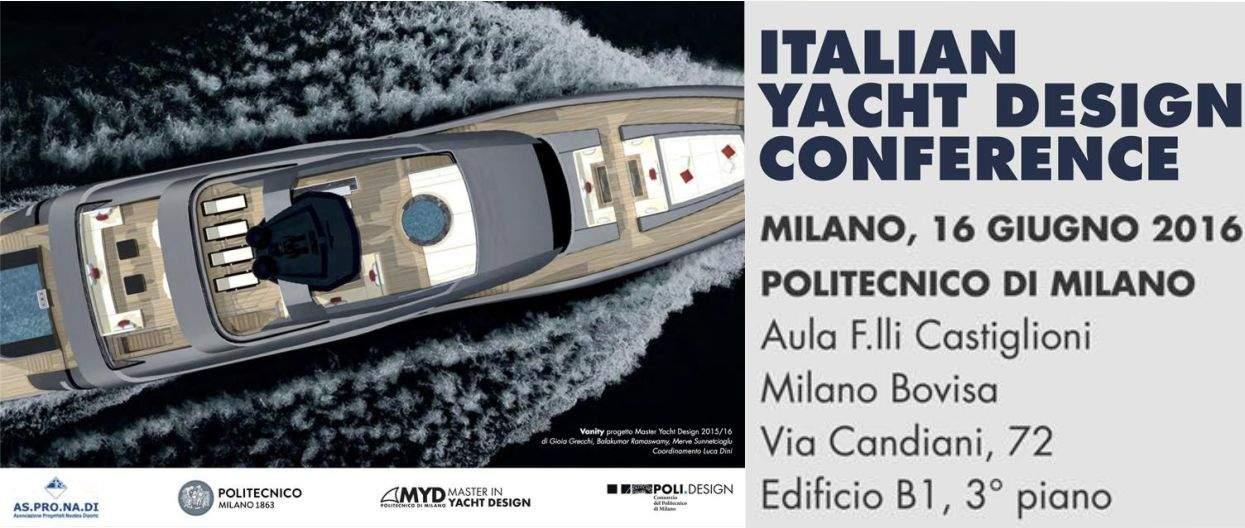 Italian yacht design conference milano 16 giugno 2016 for Yacht design milano