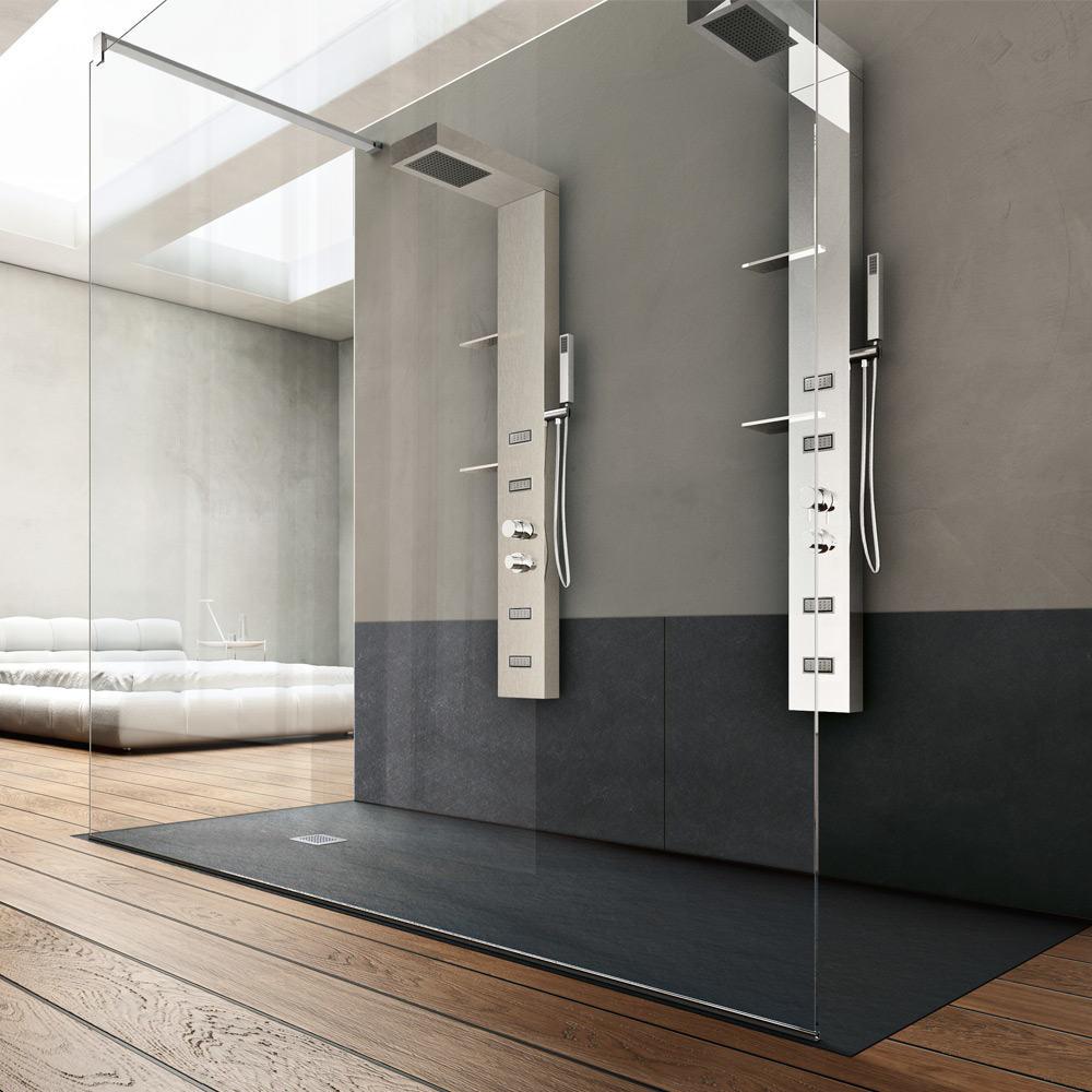 Piatto doccia forma by hafro geromin 70 x 170 cm in offerta da epm roma epm romaepm roma - Box doccia misure standard ...