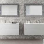 Un esempio di arredo bagno Berloni Bagno: nella foto è rappresentato un bagno arredato con la collezione Joy