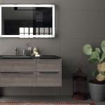Un esempio di arredo bagno Berloni Bagno: nella foto è rappresentato un bagno arredato con la collezione Manhattan