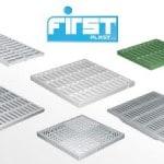Materie plastiche per l'edilizia First Plast: griglie per pozzetti