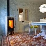 Camini e stufe MCZ: stufa a legna Quasar Ceramica