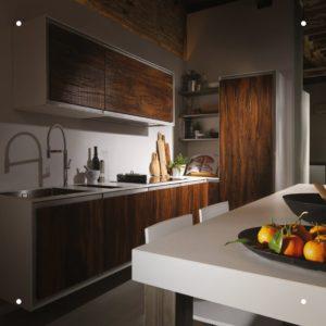 Cucine Officine Fanesi- acciaio e legno