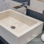 Lavabo GINEVRA in Perla Stone ricavato da un unico blocco