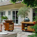 OFYR-Kamado-Table-Corten-135-PRO-Teak-Wood-BGE