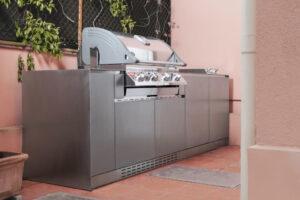 Cucina da esterno in acciaio Inox Delabrè 2 OF Outdoorkitchens