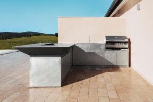 Cucina da esterno in acciaio Inox Delabrè OF Outdoorkitchens